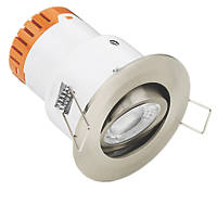 Enlite E5 Adjustable  Fire Rated LED Downlight Satin Nickel 440lm 4.5W 220-240V