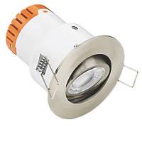Enlite E5 Adjustable  Fire Rated LED Downlight Satin Nickel 440lm 4.5W 220-240V