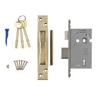 Smith & Locke Stainless Brass BS 5-Lever Mortice Sashlock 66mm Case - 45mm Backset