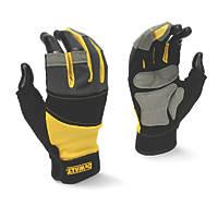 DeWalt DPG214L EU 3-Finger Framers Gloves Black / Yellow / Grey Large