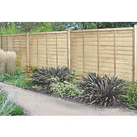Forest Super Lap  Fence Panels 6 x 6' Pack of 3