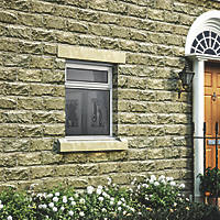 Jeld-Wen Stormsure Top Opening Double-Glazed Casement White Painted Timber Window 1195 x 895mm