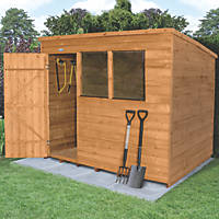 Forest 8' x 6' (Nominal) Pent Overlap Timber Shed with Base & Assembly