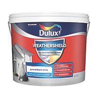 Dulux Weathershield Textured Masonry Paint Pure Brilliant White 10Ltr