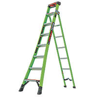 Little Giant 2-Section 3-Way Fibreglass & Aluminium 3-in-1 Extension Ladder  4.2m