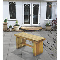 Forest Double Sleeper Garden Bench Softwood 900 x 350 x 445mm