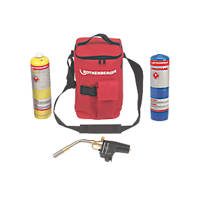 Rothenberger Hot Bag MAPP Super Fire Torch & 1 x MAP/PRORothenberger Hot Bag with Super Fire, Propane & Map Pro Gas