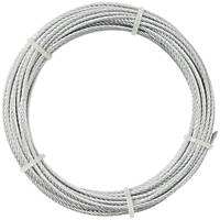 Diall Wire Rope Silver 5mm x 10m