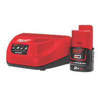 Milwaukee M12 NRG-201 12V 2.0Ah Li-Ion RedLithium Battery & Charger Set