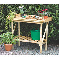 Forest Larchlap Softwood Potting Bench 920 x 520 x 1080mm