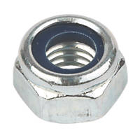 Easyfix BZP Steel Nylon Lock Nuts M4 100 Pack