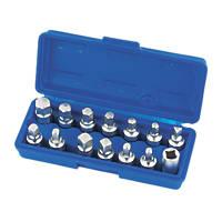 Laser Drain Plug Key Set 14 Piece Set