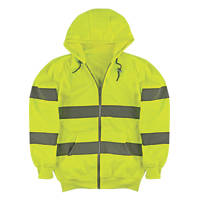 "Portwest  Hi-Vis Hoodie Yellow Large 49½"" Chest"