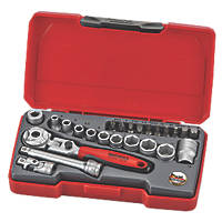 "Teng Tools T1424S 1/4"" Drive Metric Socket Set 24 Pieces"