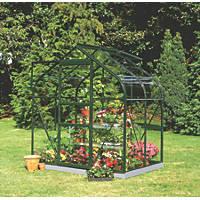 "Halls Supreme 46 Aluminium Greenhouse Horticultural Glass 6' 3"" x 4' 3"""
