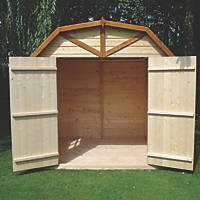 """Shire Barn 6' 6"""" x 6' 6"""" (Nominal) Barn-Style Shiplap T&G Timber Shed"""