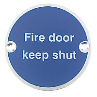 Fire Door Keep Shut Sign Aluminium 76mm