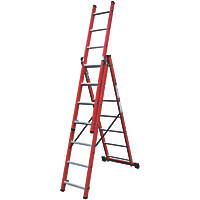 Lyte 3-Section 3-Way Fibreglass & Aluminium Combination Ladder  4.12m