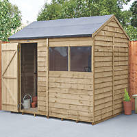 Forest  8' x 6' (Nominal) Reverse Apex Overlap Timber Shed