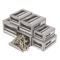Turbo Silver PZ Double Self-Countersunk Woodscrews Trade Pack 1400 Pcs
