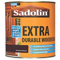 Sadolin Exterior Woodstain Translucent Semi-Gloss Jacobean Walnut 1Ltr