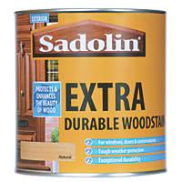Sadolin Extra Durable Woodstain Semi-Gloss Finish Natural 1Ltr
