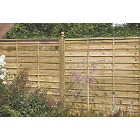 Larchlap Solway Fence Panels 1.83 x 1.83m 9 Pack