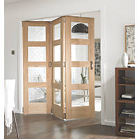 Jeld-Wen  Unfinished Pannelled Glazed 3-Door Interior Room Divider 2052 x 1934mm