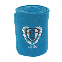 Covalliero Fleece Horse Leg Bandages Royal Blue 120mm x 3m 4 Pack