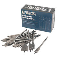 Erbauer Wood Drill Bit Trade Pack 20 Pcs