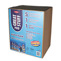 Dow Great Stuff Pro Gun Foam Window & Door Fixer Kit Gun Grade 750ml