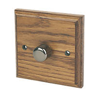 Varilight V-Pro 1-Gang 2-Way LED Dimmer Switch  Medium Oak