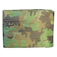 NDC Polythenes Heavy Duty Camouflage Tarpaulin 3 x 4m