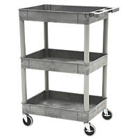 Grey 3-Shelf Trolley