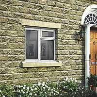 Jeld-Wen Stormsure Left-Hand Opening Double-Glazed Casement White Painted Timber Window 1195 x 895mm