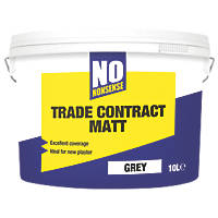 No Nonsense Matt Emulsion Grey 10Ltr