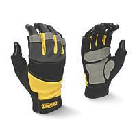 DeWalt DPG213L EU Fingerless Gloves Black / Yellow / Grey Large