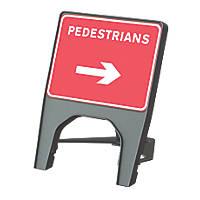 """Melba Swintex Q Sign Rectangular """"Pedestrian Right"""" Traffic Sign 610 x 775mm"""