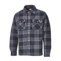 "Dickies Portland Padded Shirt Blue / Black 19.5"" 42"" Chest"