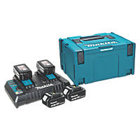 Makita 197627-6 18V 5.0Ah Li-Ion LXT Batteries & Charger Kit 5 Piece Set