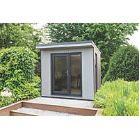"""Forest Xtend 8' 6"""" x 8' Pent Insulated Garden Office with Base"""