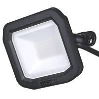 Luceco Slimline LED Floodlight Black 20W 2200lm