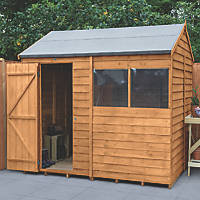 Forest  8' x 6' (Nominal) Reverse Apex Overlap Timber Shed with Base & Assembly