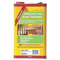 Sika Sikagard Universal 5 Star Wood Treatment Clear 5Ltr