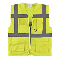 "Hi-Vis Executive Waistcoat Yellow Large 44"" Chest"