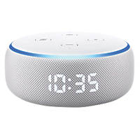 Amazon Echo Dot with Clock Voice Assistant White