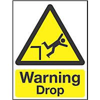 """Warning Drop"" Sign 200 x 150mm"