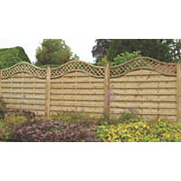 Forest Prague  Lattice Curved Top Fence Panels 6 x 6' Pack of 3