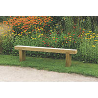 Forest Sleeper Garden Bench Pressure-Treated Softwood 1800 x 200 x 447mm