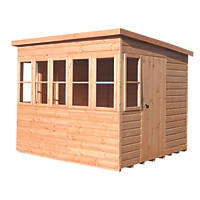 Shire Sunpent 8' x 6' (Nominal) Pent Shiplap T&G Timber Shed